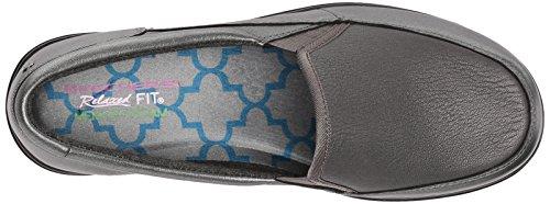 Skechers de la mujer de piel hombre Charcoal Leather