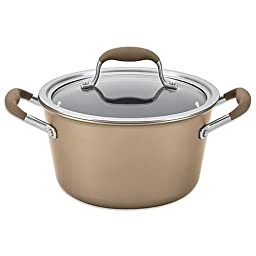 Advanced Umber 4.5 qt. Tapered Covered Saucepot