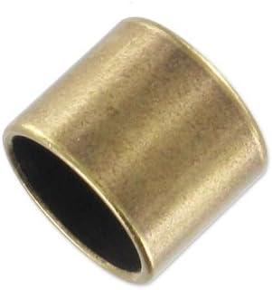 Perles /& Co Endkappe Rohr f/ür 10 mm Seil bronzefarben