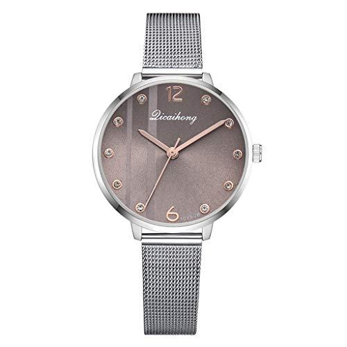 Roumin Men and Women Watch, Temperament Fashion Net with Gift Quartz Watch(Khaki)