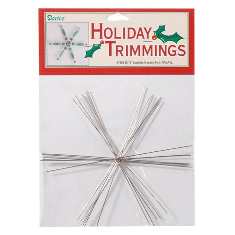Bulk Buy: Darice DIY Crafts Ornament Form Snowflake Large 6 inches (6-Pack) 1956-18 ()