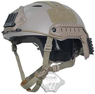 H World Shopping FMA Tactical Airsoft Casco de protección rápida ajustable PJ NVG montaje para táctico Airsoft Paintball DE