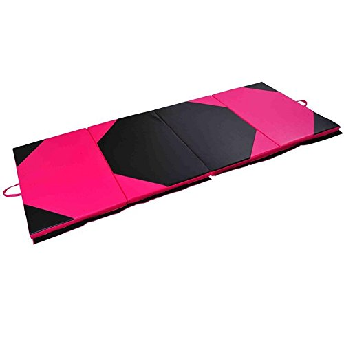 Gymnastics Aerobics Exercise Yoga Tumbling Mat Foldable Gym Mat 4' x 10' x 2'' With Ebook by MRT SUPPLY