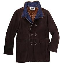 Dolce & Gabbana Junior Boys Leather Jacket Brown L44330-OL9NN-M0955