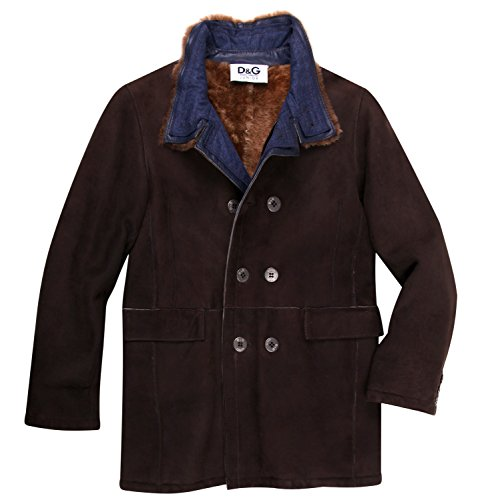 Dolce & Gabbana Junior Boys Leather Jacket Brown L44330-OL9NN-M0955, Old Child Size:10 - Gabbana Junior Dolce