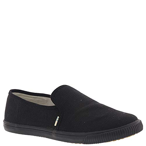 TOMS Women's Clemente Burlap Slip-On (8.5 B(M) US, Black/Black Heritage Canvas)