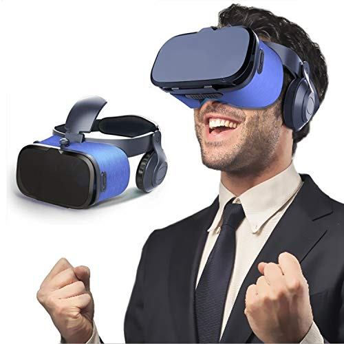 3D Virtual Reality Headset, 2019 New VR Goggle w/ Headphone & Remote for 3D Movie/Game, VR Glasses for iPhone 11 Pro XS…