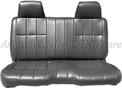 """A25 Toyota Tacoma Front Solid Bench Gray Exquisite Leatherette Genuine PU Leather Seat Covers, Triple Stitched with 8mm Extra Thick Padding, Molded Headrests, Seat Belt Cutout, Small 2"""" to 3"""" Shifter Cutout, Custom Made for Exact Fit 1995 - 2004"""