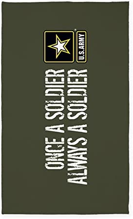 CafePress U.S. Army Once A Soldier Military Green Decorative Area Rug, Fabric Throw Rug