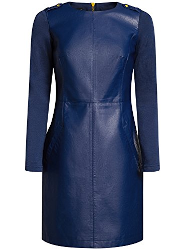 Combine Bleu Simili oodji 7900n en Robe Femme Cuir Ultra HFAnwqtnz