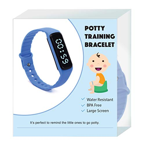 The Brand New Designed Potty Training Bracelet (Blue) with Water Resistance Function and Small Sized Watchband - Made with 100% Non-Toxic, BPA/Latex Free Silicone Rubber