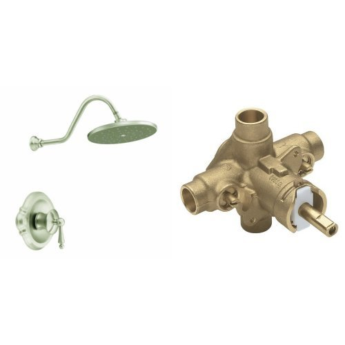 Moen TS312BN-2570 Waterhill Posi-Temp Shower Only with Valve, Brushed Nickel