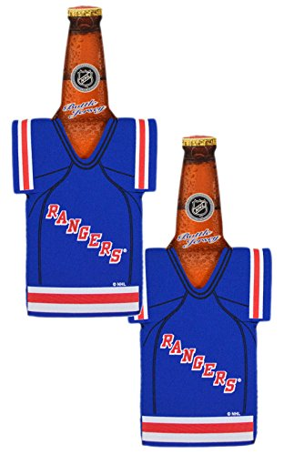 Official National Hockey League Fan Shop Authentic NHL 2-pack Team Jersey Insulated Bottle Cooler (New York - York Wetsuit New