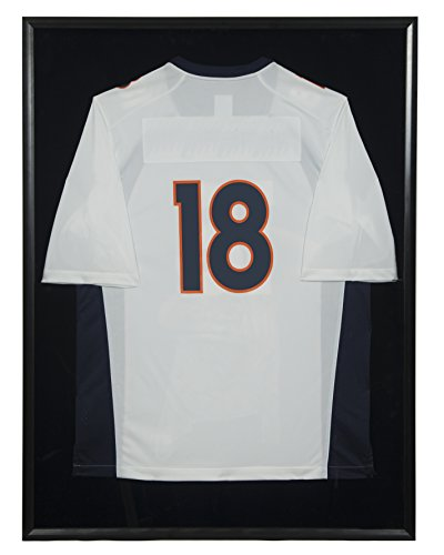 Snap Jersey Wall Display Case Shadow Box, 30 inches x 40 inches, Black by Snap