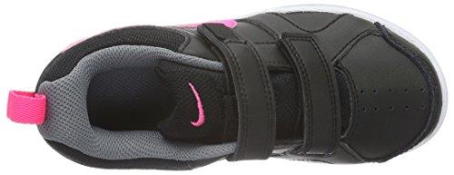 Nike Lykin 11 (Psv), Zapatillas de Tenis para Niñas Negro / Rosa / Gris (Black / Hyper Pink-Wolf Grey)