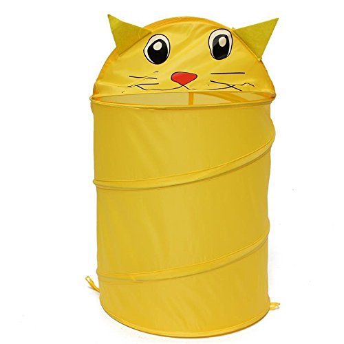 Foldable 5 Styles Cute Cartoon Folding Laundry Cylinder Pop Up Household Storage Bin Hamper Tidy Basket Kid Toy Sundries Box Bag by zilzol (Image #2)