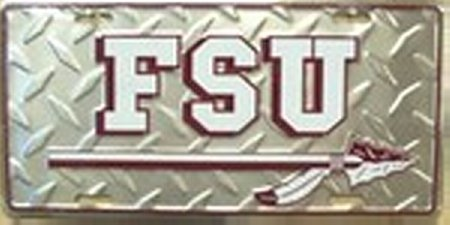 College License Tag - Florida State University FSU College License Plate Plates Tags Tag auto vehicle car front