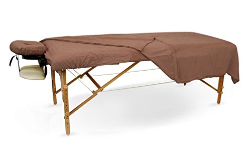 Flannel Sheet Set for Massage Tables (10 Set Case, Chocolate) by BodyChoice