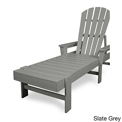 Cheap Shell Back Chaise Lounge Finish: Slate Grey