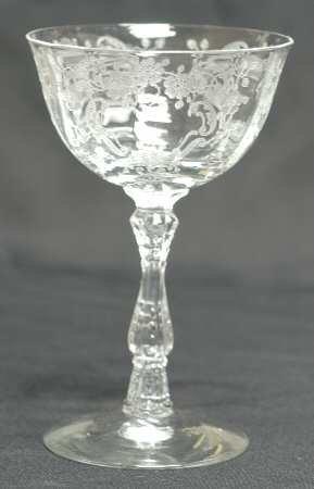 Fostoria Meadow Rose 6oz Champagne Glass/tall Sherbert