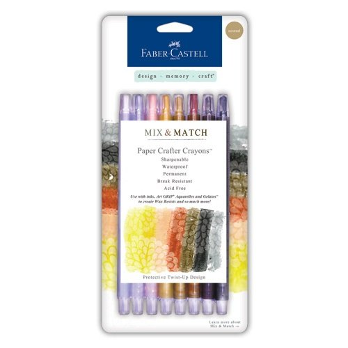 Faber-Castell Design Memory Craft Paper Crafter Crayon Set for Adult Coloring, Neutral