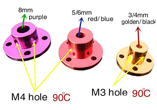 2 Pcs Rigid Flange Seat Guide Shaft Optical Axis Support // Fixed seat Cylindrical Outer Diameter 16mm Pzsmocn Purple Aluminum Alloy Flange Coupling 8mm with M4 top Wire Cylindrical Height 10mm Overall Height 13mm