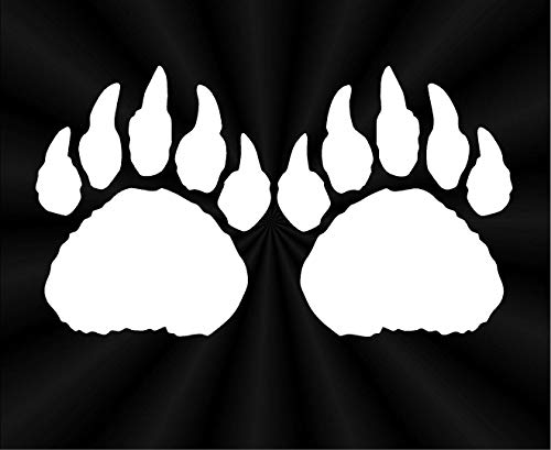REDIN STORE Bear Track Decals Paws Car Truck Wall Vinyl Window Stickers Made in USA Fast delivery
