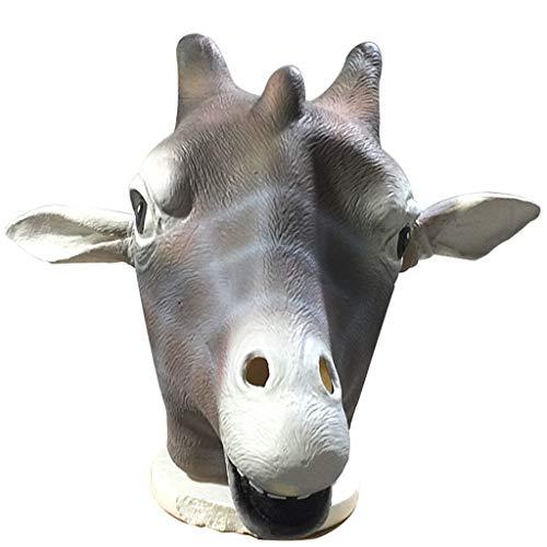 Latex Giraffe Mask Headgear Halloween Party Costume Decorative Mask