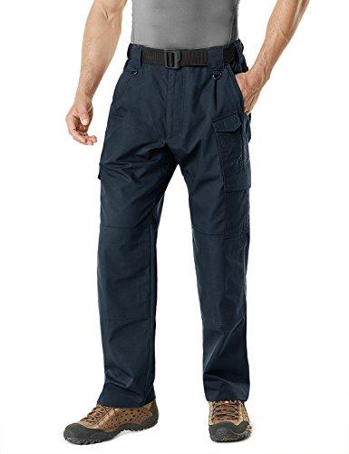 CQR Men's Tactical Pants Lightweight EDC Assault Cargo, Operator(tlp105) - Dark Navy, 32W/30L