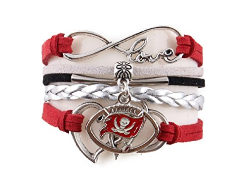 TheCreativeGene Love Tampa Bay Buccaneers Charm (Buccaneer Jewelry)