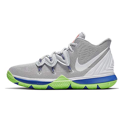 Nike Kids' Grade School Kyrie 5 Basketball Shoes (7, Grey/Lime)