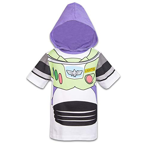 Disney Toy Story Boys Hooded Shirt Toy Story Costume Tee - Buzz Lightyear Sheriff Woody (Buzz Lightyear, 2T)