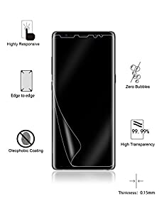 Galaxy Note 8 Screen Protector [2-Pack][Not Glass], Yootech [Case Friendly] Galaxy Note 8 Wet Applied Screen Protector BUBBLE-FREE for Samsung Galaxy Note 8