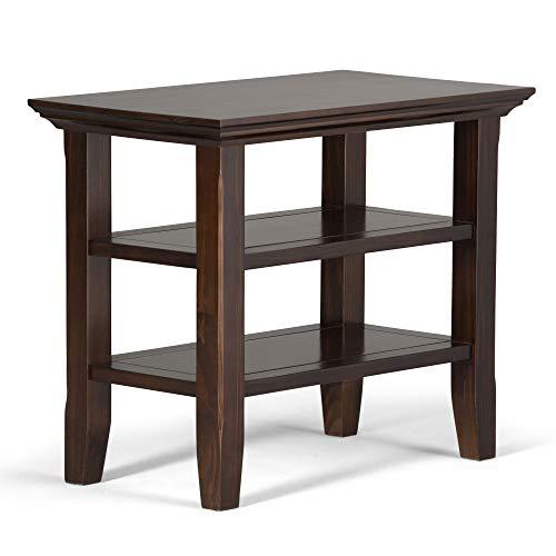 Simpli Home AXCRACA05-BRU Acadian Narrow Side End Tables, Brunette Brown