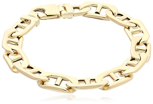 Mens-14k-Yellow-Gold-Italian-110mm-Mariner-Link-Bracelet-85