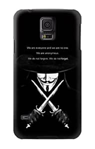 S0092 V Mask Guy Fawkes Anonymous Case Cover for Samsung Galaxy S5 Kimberly Kurzendoerfer