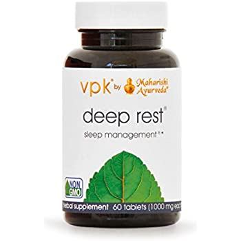 Deep Rest | 60 Herbal Tablets - 1000 mg ea. | Natural Support for Uninterrupted & Restful Sleep