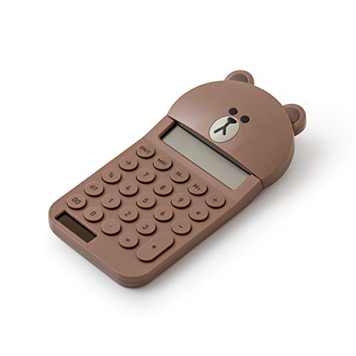 Line Friends Office Electornics - Brown Character Basic Calculator