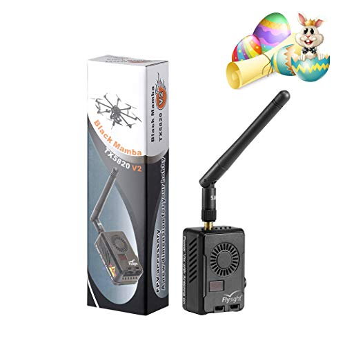 Flysight Black Mamba 2000mW 5.8Ghz FPV Long Range Video Transmitter 40CH 2W Wireless Audio Video FPV Vtx Transmitter for RC Drone MultiTotor Quadcopter with Long Distance Transmission (SMA ANT 6-28V)
