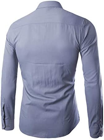 無地 ワイシャツ ドレスシャツ 長袖 メンズ デザイン ビジネス カジュアル スリム 黒 白 8カラー