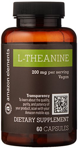 Amazon Brand – Amazon Elements L-Theanine, 200mg, 60 Capsules, 2 month supply