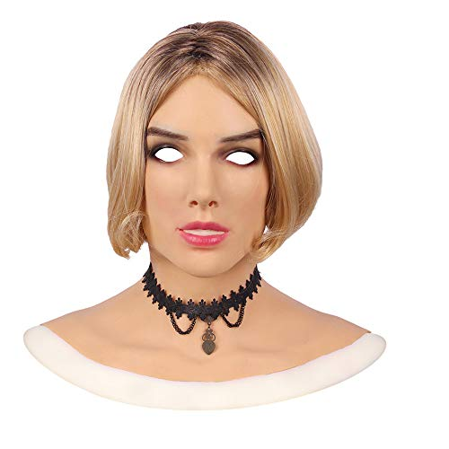(Mypersian Silicone Female Fcae Mask Beatrice Makeup for Crossdresser Transgender Halloween)