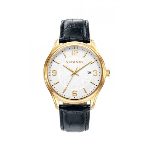 Watch Viceroy 401035-95 White Man Leather Calendar