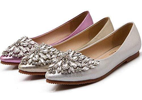 Pequeño Con Los Tiene Zapatos Tamaño De L'argent Fuxitoggo Un 35 color Apartamento Oro IpdqXx