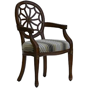 Amazon Com Powell 235 620 Spider Web Back Accent Chair
