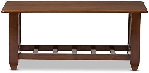 Baxton Studio Coffee Table in Cherry Brown Finish