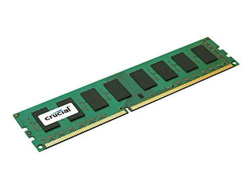 Crucial 2GB Single DDR3 1600 MT/s PC3-12800 CL11 Unbuffered UDIMM 240-Pin Desktop Memory Module CT25664BA160B