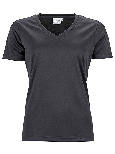 deportes y mujer ocio funcional negro 2store24 camisa camiseta de transpirable Tf7tta