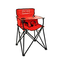 ciao! Baby Portable High Chair, Red with Carrying Case