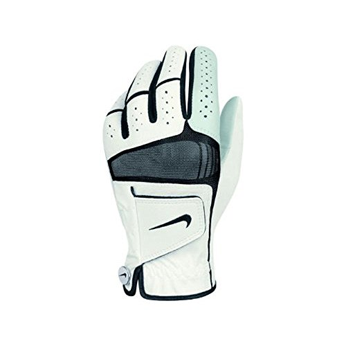 Xtreme Trim - Nike Golf Men's Tech Xtreme IV Cadet Left Hand Glove in Black with White Trim (Small)